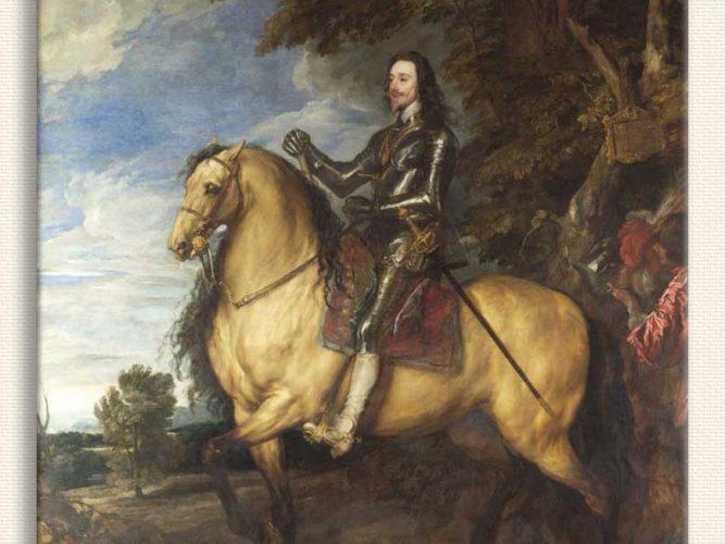 Sir Anthony Van Dyck Atının üstünde I Charles
