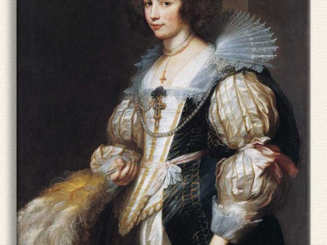 Sir Anthony Van Dyck Marie Louise de Tassis'in Portresi