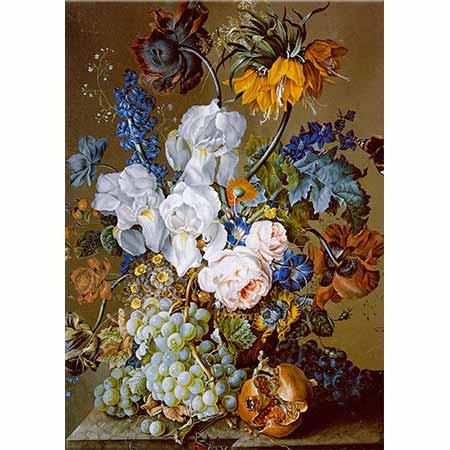 Anton Hartinger Nar Üzümler ve Kelebekler
