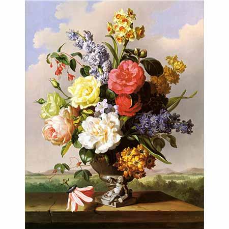 Anton Hartinger Vazodaki Çiçekler