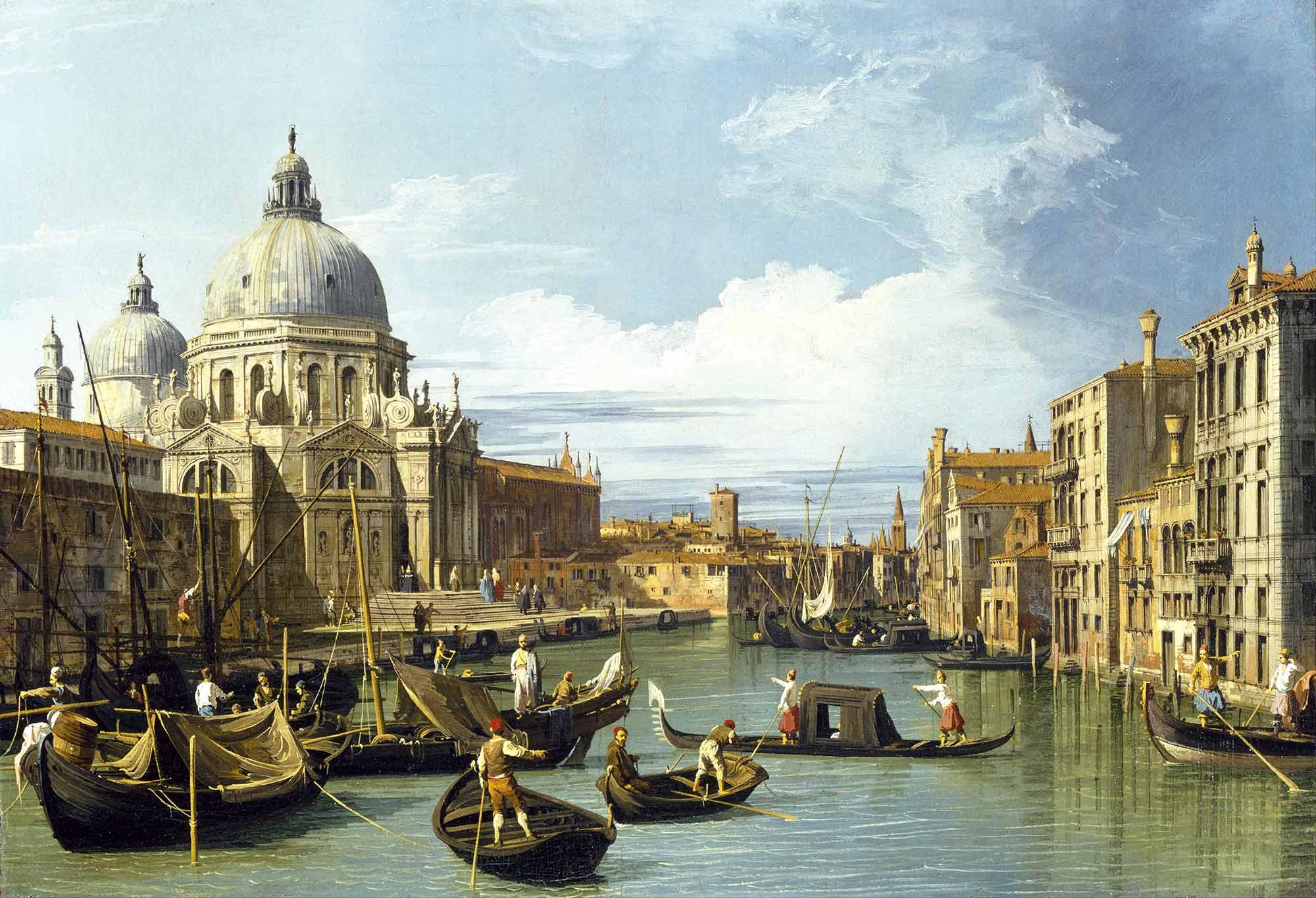 Antonio Canaletto Ana Kanala Giriş Venedik