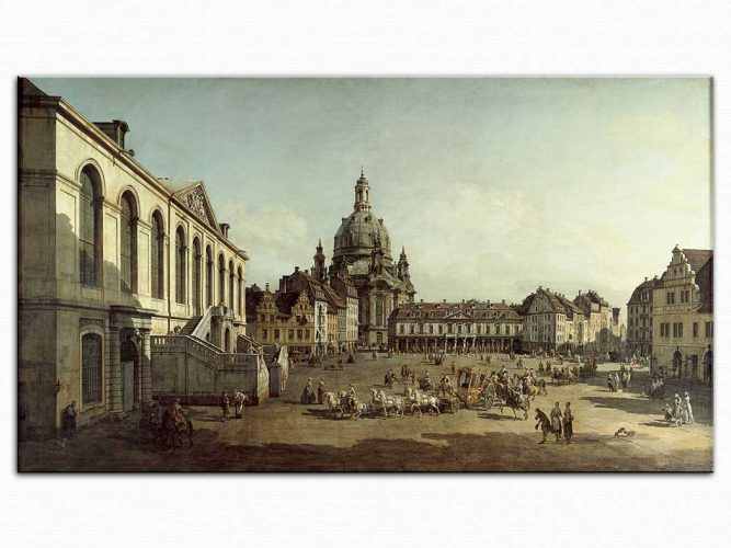 Antonio Canaletto Dresden Neumarkt'tan
