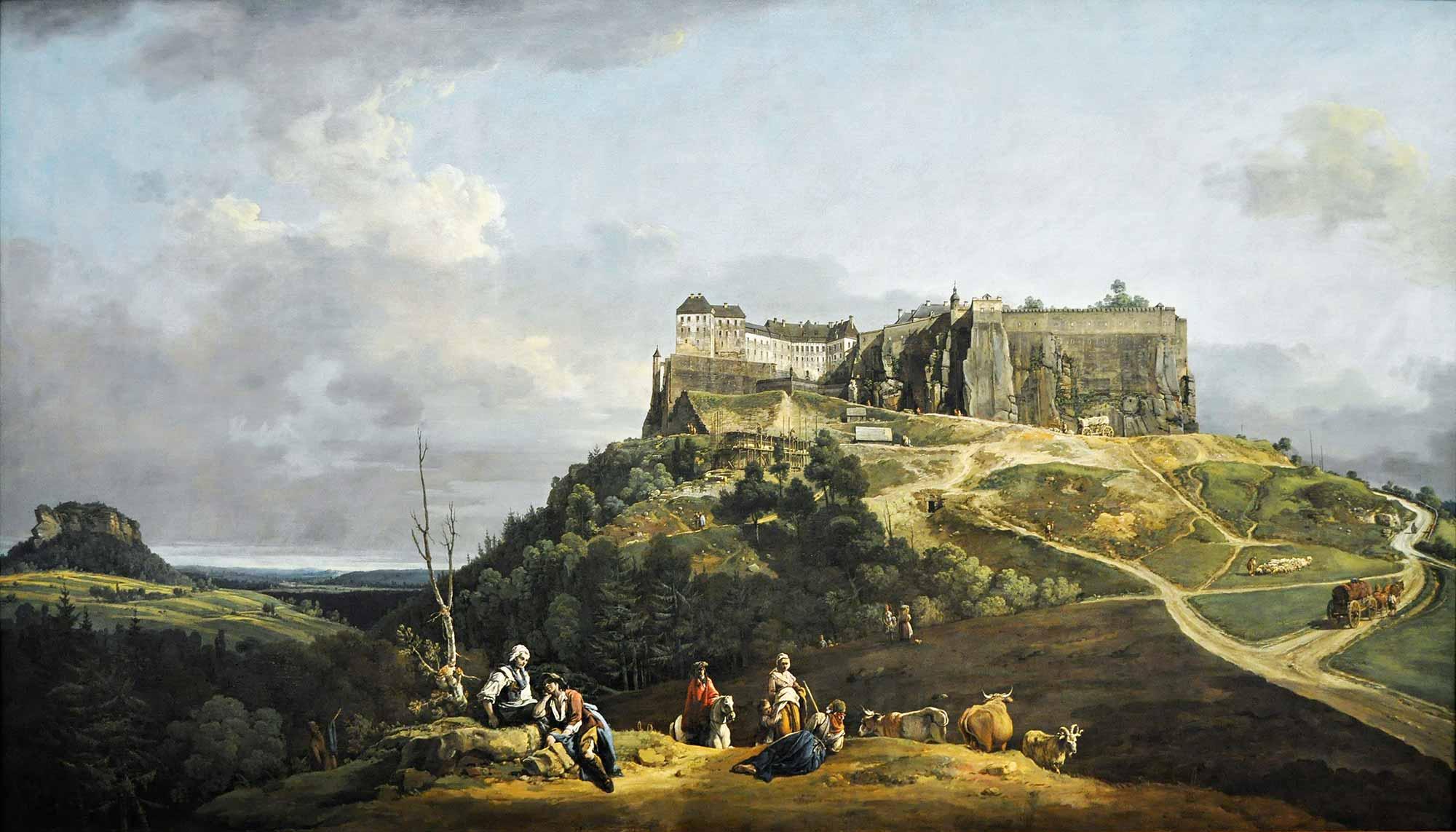 Antonio Canaletto Königstein Kalesi