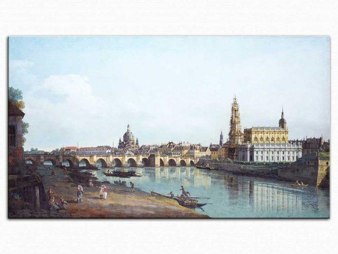 Antonio Canaletto Neustadt'tan Dresden'e Bakış