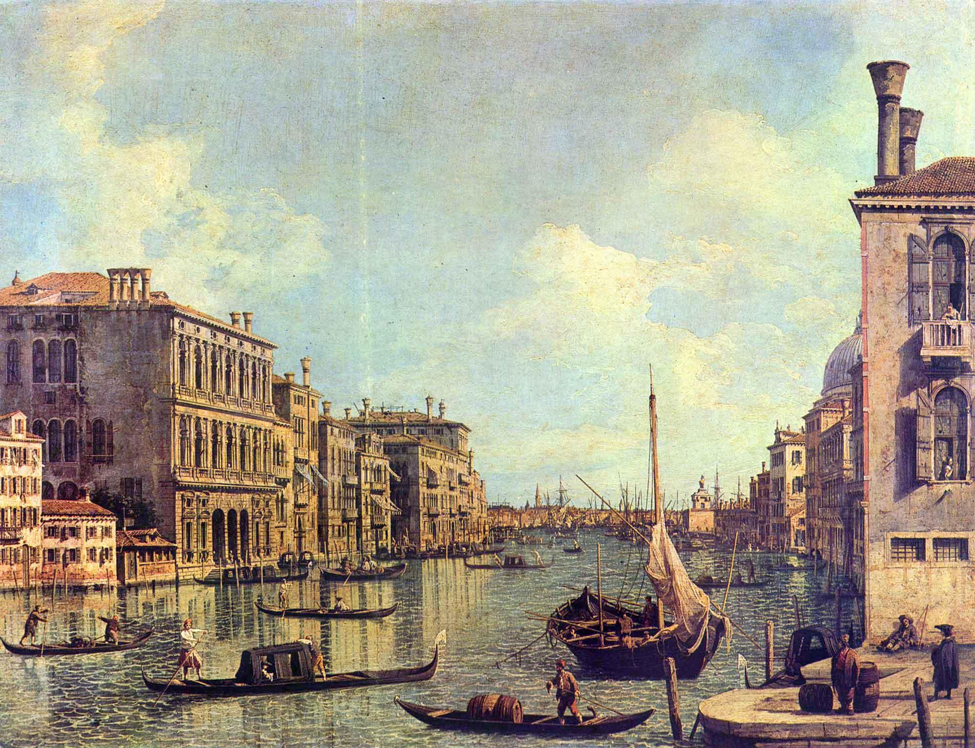 Antonio Canaletto San Marco Limanı Ana Kanal