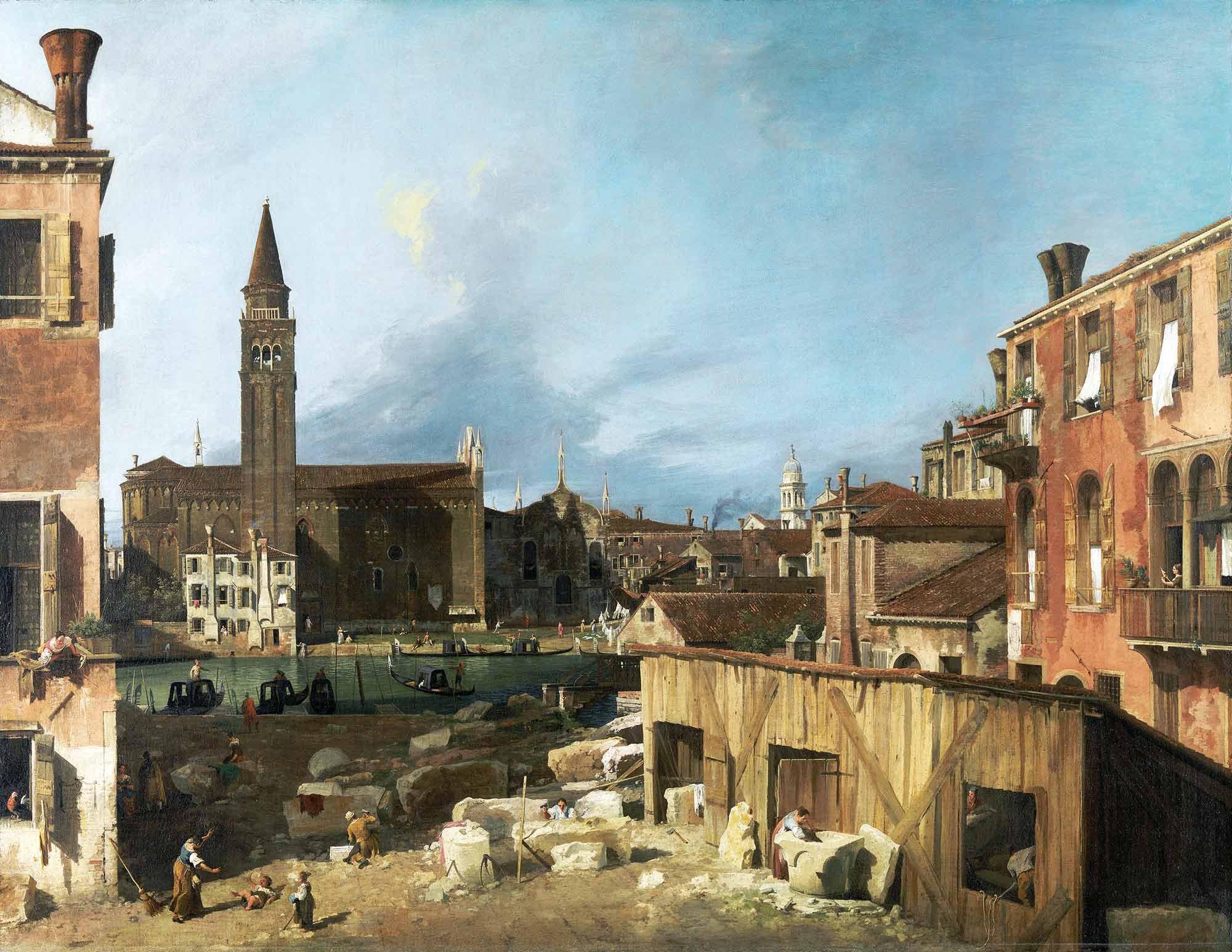 Antonio Canaletto Taş Atelyesi Avlusu