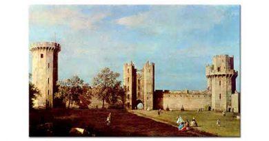 Antonio Canaletto Warwick Şatosunun iç Avlusu