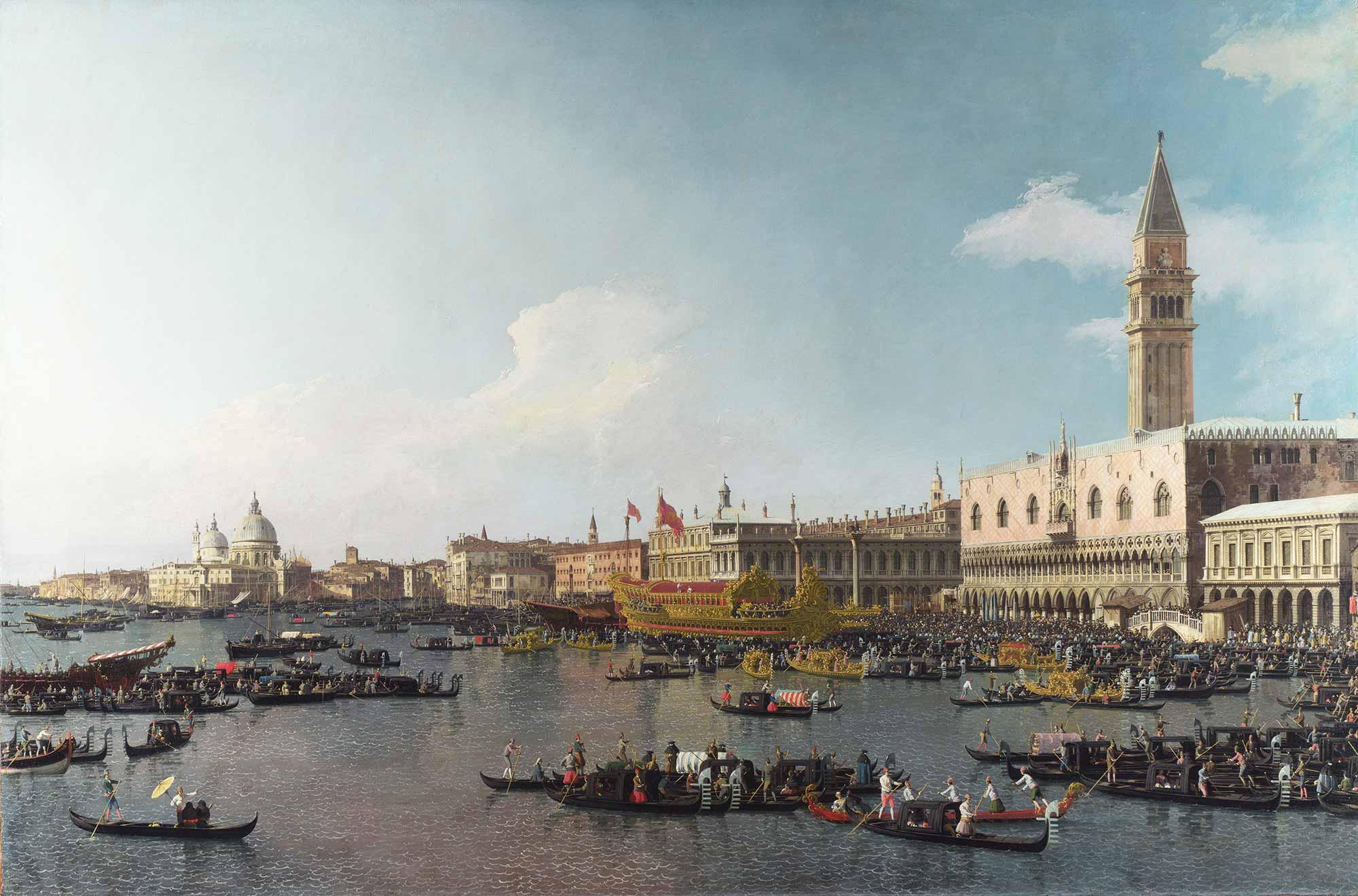 Antonio Canaletto Yükseliş Günü Kutlamaları San Marco