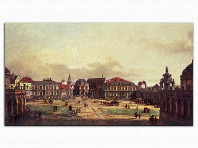 Antonio Canaletto Zwinger Meydanı Dresden