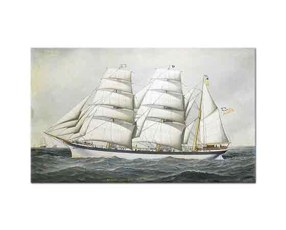 Antonio Jacobsen Ingiliz Gemisi Dunearn Açık Denizde
