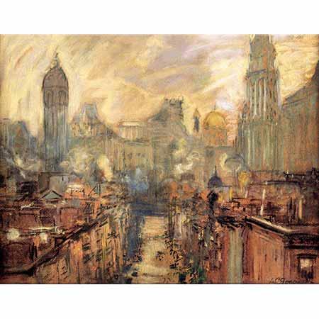 Arthur Clifton Goodwin Manhattan Köprüsünden New York