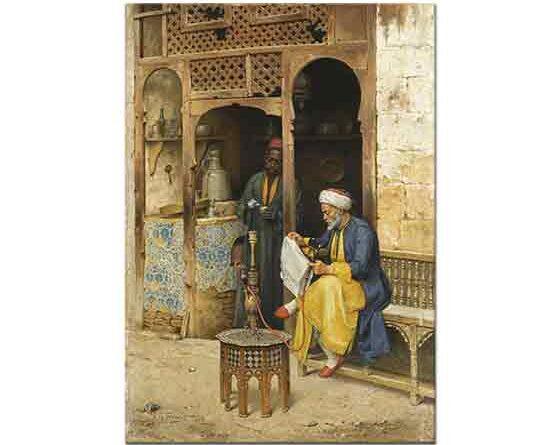 Arthur von Ferraris Kahvehane Kahire