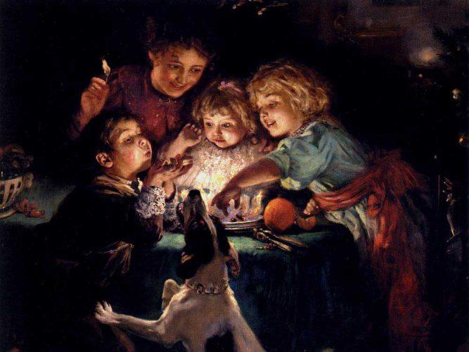 Arthur John Elsley Aslanağzı tablosu