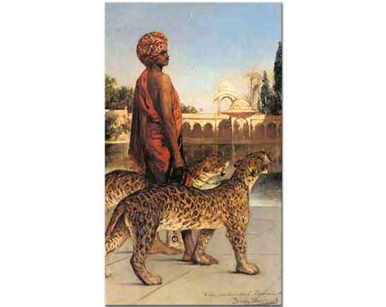 Benjamin Constant Saray Nöbetçisi ve iki Leopar