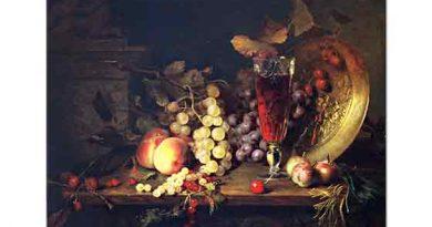 Blaise Alexandre Desgoffe üzümlü Natürmort