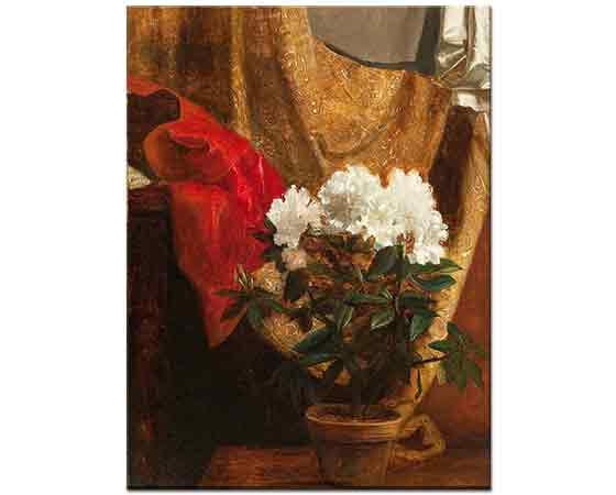 Blaise Alexandre Desgoffe Vazoda Çiçekler