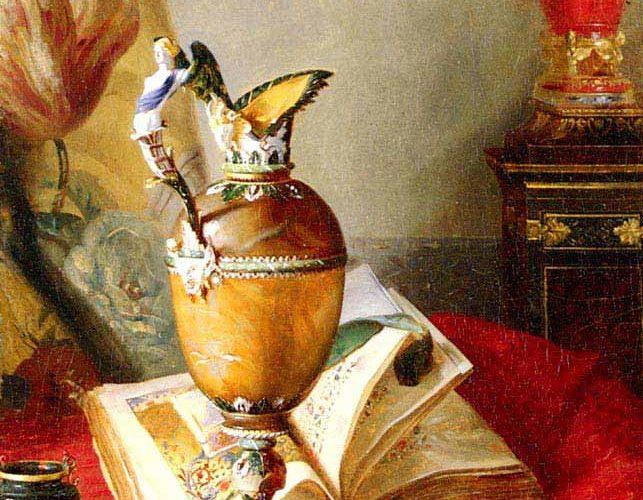 Blaise Alexandre Desgoffe El Yazmalı Natürmort