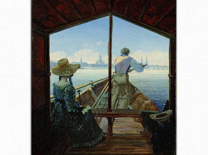 Carl Gustav Carus Elbe üzerinde Gondol Yolculuğu