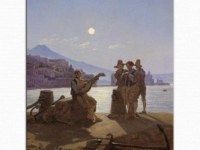Carl Gustav Carus Napoli Sahilinde Balıkçılar