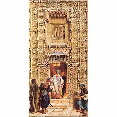 Carl Haag Kahirede Şeyh Said Dergahının Girişi