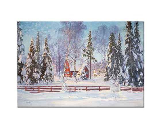 Carl Brandt Kış Manzarası ve Kulübe
