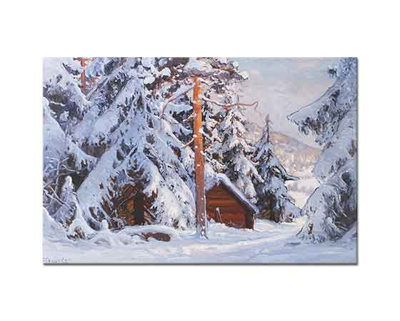 Carl Brandt Kış Manzarasında Ağaçlar