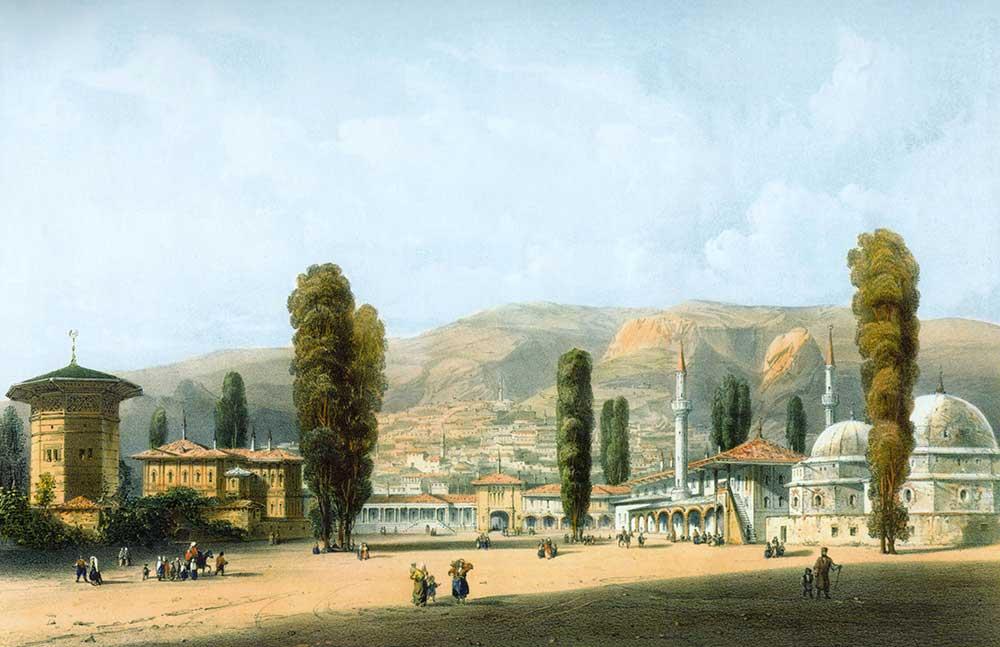 Carlo Bossoli Han sarayı Bahçesaray Kırım