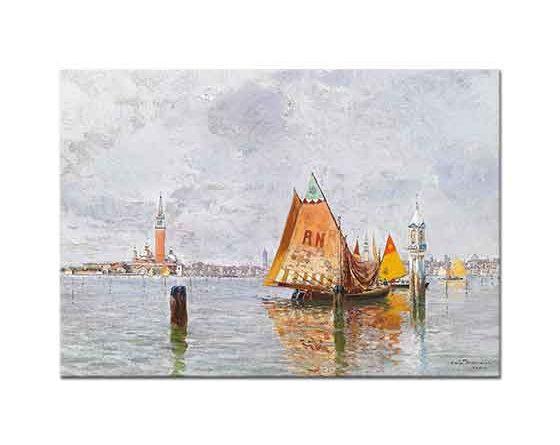 Carlo Brancaccio Venedik Açıklarında Balıkçı Tekneleri