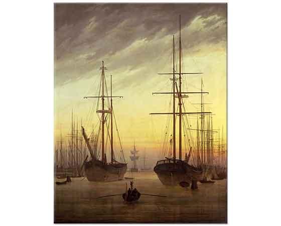 Caspar David Friedrich Bir Limanın Manzarası