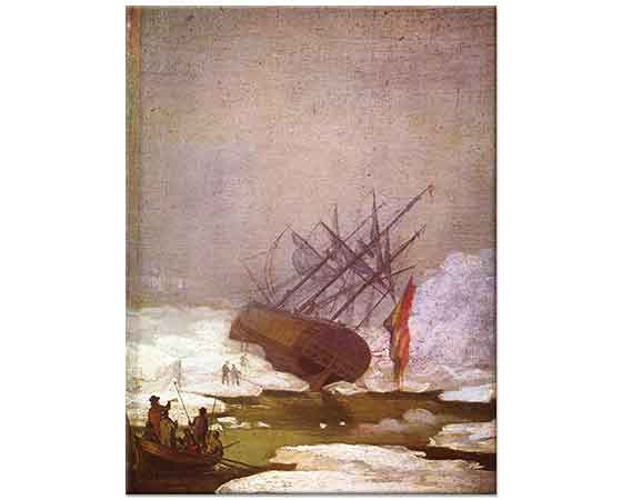 Caspar David Friedrich Buz Denizinde Gemi