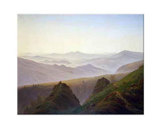 Caspar David Friedrich Dağlarda Sabah
