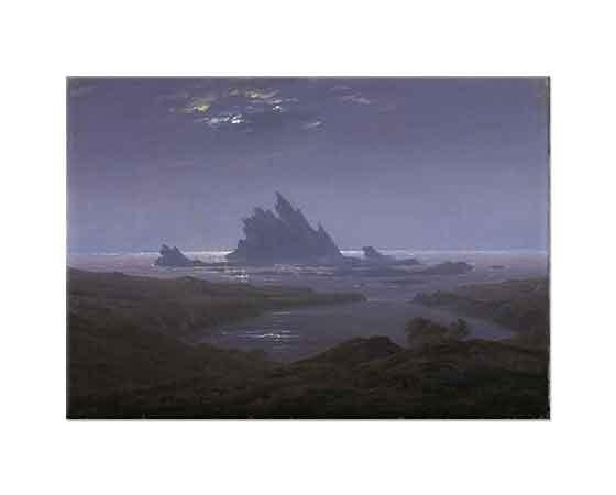 Caspar David Friedrich Deniz Kenarında Kayalık Resif