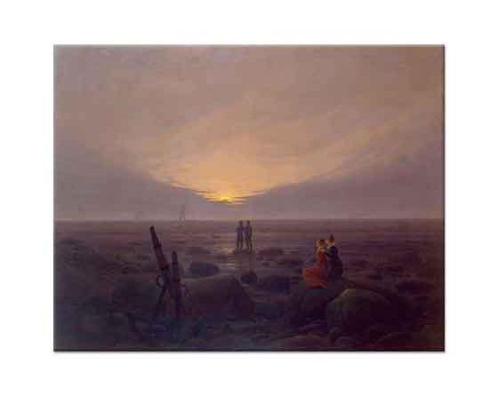Caspar David Friedrich Deniz Üstüne Ay Doğuşu