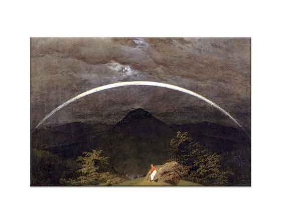 Caspar David Friedrich Gökkuşağı ve Dağlar
