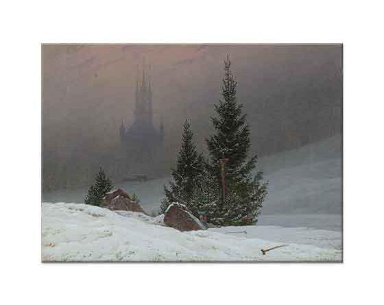 Caspar David Friedrich Kış Manzarası