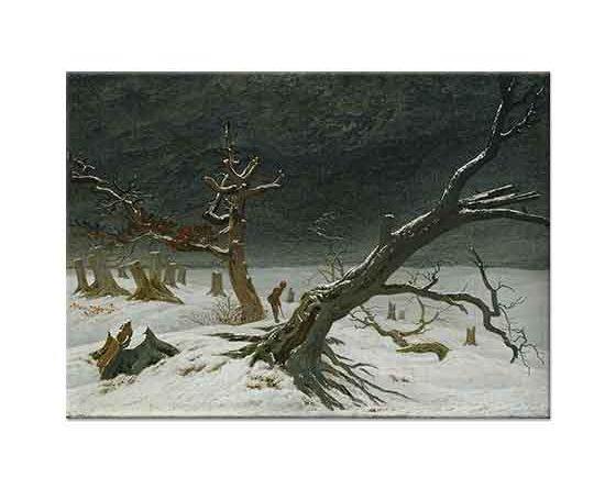 Caspar David Friedrich Kış Manzarasında Ağaçlar