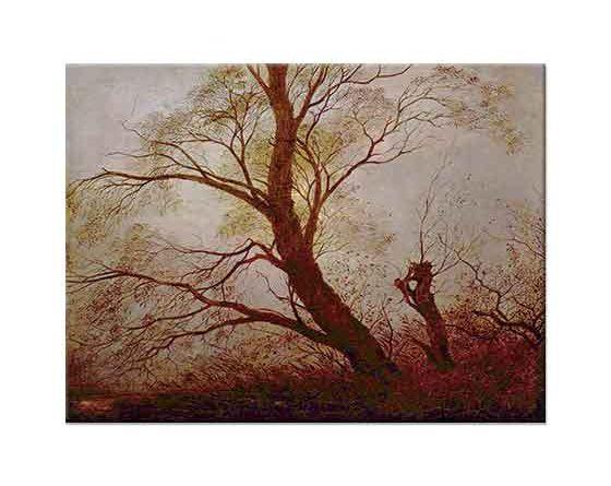 Caspar David Friedrich Mehtapta Ağaçlar