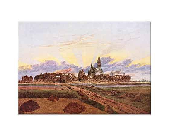 Caspar David Friedrich Neubrandenburg'da Gün Batımı