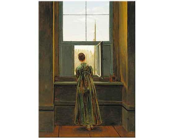 Caspar David Friedrich Pencerede Kadın