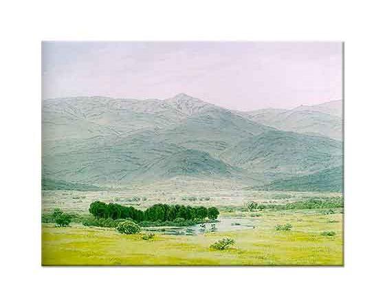 Caspar David Friedrich Riesengebirge'de Manzara