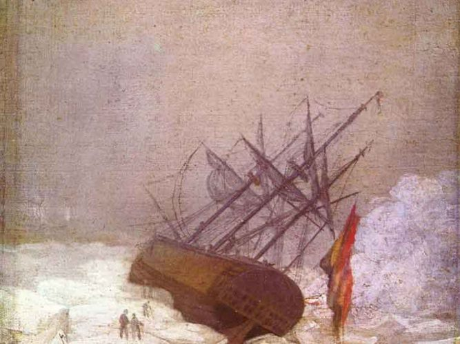 Caspar David Friedrich Buz Denizinde Gemi