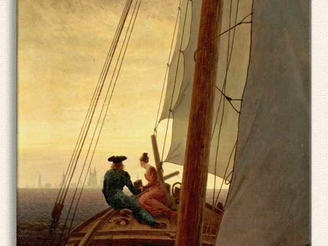 Caspar David Friedrich Yelkenlide