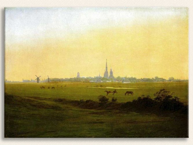 Caspar David Friedrich Greifswald'da Çayırlar