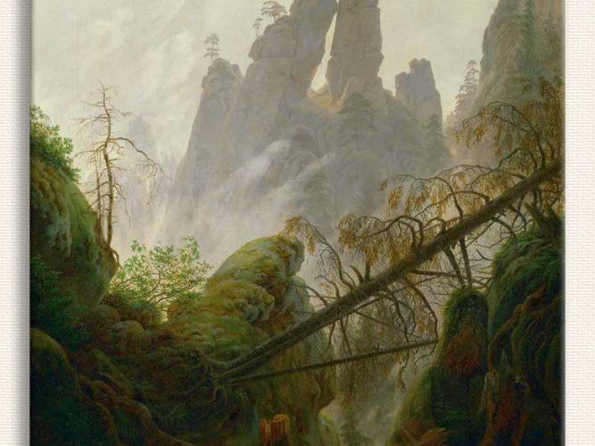 Caspar David Friedrich Kayalık Geçit