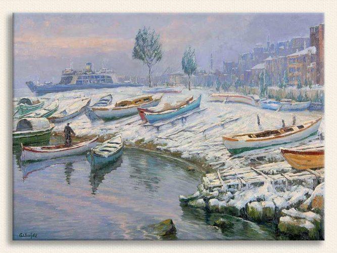 Cevat Erkul Istanbul'da Kış tablosu