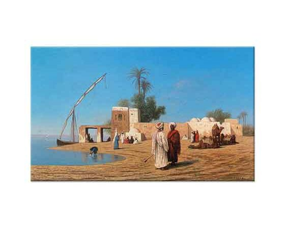 Charles Theodore Frere Nil Kıyısında Kasaba