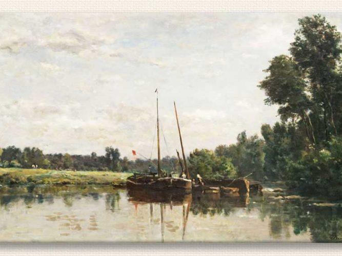 Charles Francois Daubigny Oise'de Tekneler