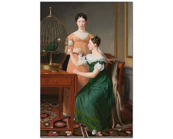 Christoffer Wilhelm Eckersberg Mendel Levin Nathanson'un Kızkardeşleri, Bella and Hanna