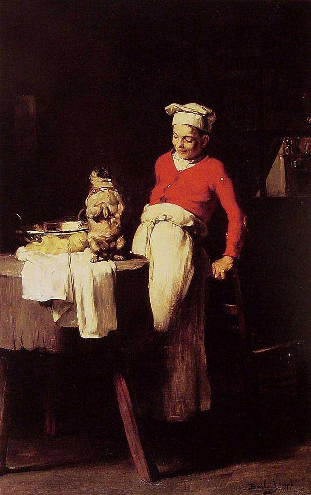 Claude Joseph Bail Ahçı ve Köpeği