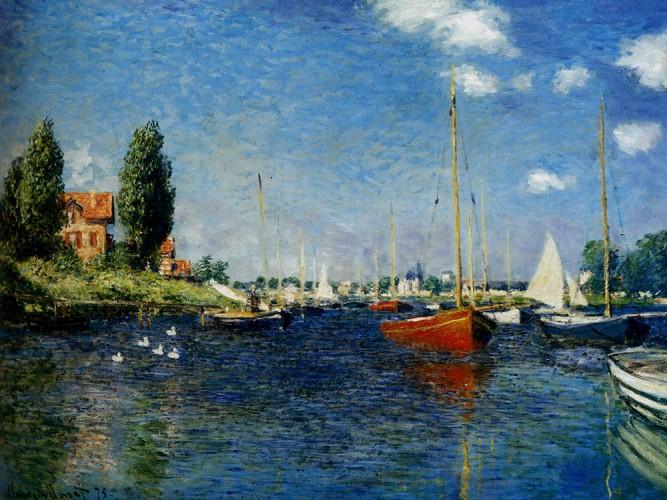Claude Monet Argenteuil Kırmızı Tekneler